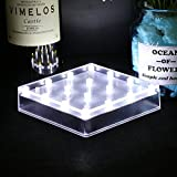 LACGO 5 Inch (White Light) Acrylic Square LED Plate Light,16 LEDs Vase Base Light for Wedding, Party, Home Table Centerpiece Decoration(Pack of 12)