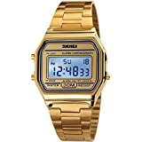 Gosasa Classic Women's Gold Stainless Steel Digital Watch