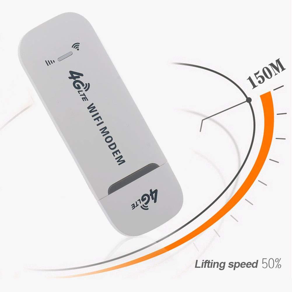 SUNERLORY Netzwerkkarte 4G LTE uter B Entriegelt Stick WiFi Modem Kleiner Adapter Dongle Wireless Wei/ß 150Mbps Universal gh Speed