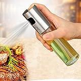 Designeez Stainless Steel Glass Oil Sauce Vinegar Pump Spray Bottle (100ml)