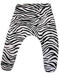 Preemie Bottoms-Jacqui's Baby Girls' Zany Zebra Footed Pants
