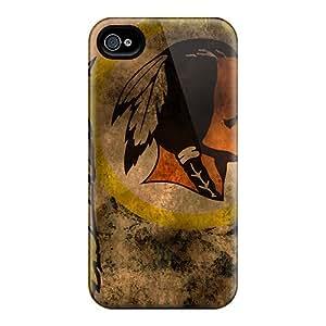 Iphone 4/4s MWR3119XeyI Provide Private Custom Lifelike Washington Redskins Skin Great Hard Phone Covers -ColtonMorrill