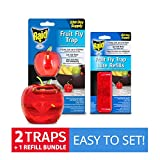 Best Fruit Fly Traps - Raid Fruit Fly Trap (2-Pack) + Refill Bundle Review