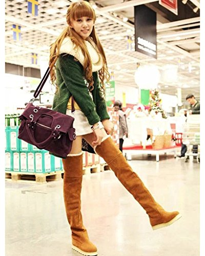 Autunno Long Calda Inverno Donna Fashion Boots Scarponi Da Shoes Platform Neve Minetom Yellow Overknee AHxRwPqW