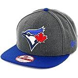 MLB Toronto Blue Jays Heather 9Fifty Snapback Cap, One Size, Graphite