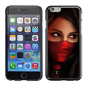 Planetar® ( Woman Red Agent Babe ) Apple (5.5 inches!!!) iPhone 6+ Plus / 6S+ Plus Fundas Cover Cubre Hard Case Cover