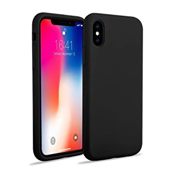 coque iphone xr noir fine
