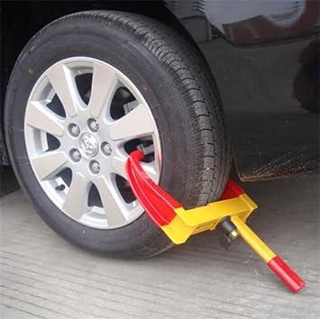 GOTOTOP Anti-Robo Bloqueo de Abrazadera de Rueda Pinza de Garra para Neumáticos del Remolque Caravana Coche Camión 8 Hoyos: Amazon.es: Coche y moto