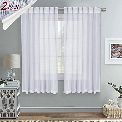 Cheap  RYB HOME Thick Semi-sheer Voile for Bedroom Window Treatment Curtains Rod Pocket/Back..