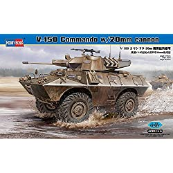 Hobby Boss V-150 Commando with 20mm Cannon Vehicle Model Building Kit