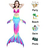 iGeeKid 3 Pcs Girls Swimsuit Mermaid for Swimming