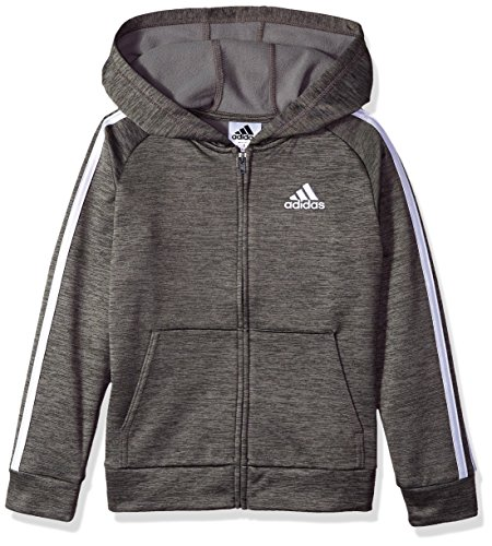 adidas Boys' Toddler Zip Up Hoodie, Grey Five Heather, 4