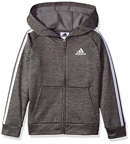 adidas Boys' Big Zip Up Hoodie, Grey Five Heather, S (8/10)