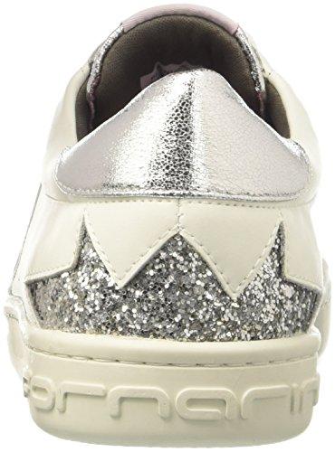 PE18AN1059VL90 White Fornarina Low Shoes Woman Silver Sneakers 6wqxpvRZn