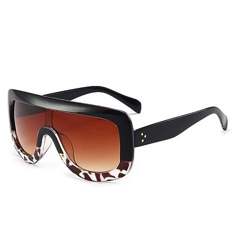 Yangjing-hl Gafas de Sol siamesas de Gran tamaño con Gafas ...