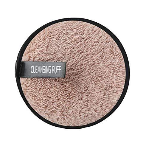 Mikrofaser Makeup Remover Pads Wiederverwendbare Weiche Gesicht Gesichtsreinigung Puffs Handtücher Reisegröße Magie Doppelseitige Reinigung Puff (kaffee)