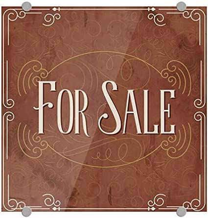 for Sale Victorian Card Premium Acrylic Sign CGSignLab 5-Pack 16x16