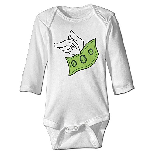 Billion Dollar Baby Costumes (Fashion Baby Boys & Girls Flying Dollar Bill Long-sleeve Jumpers)