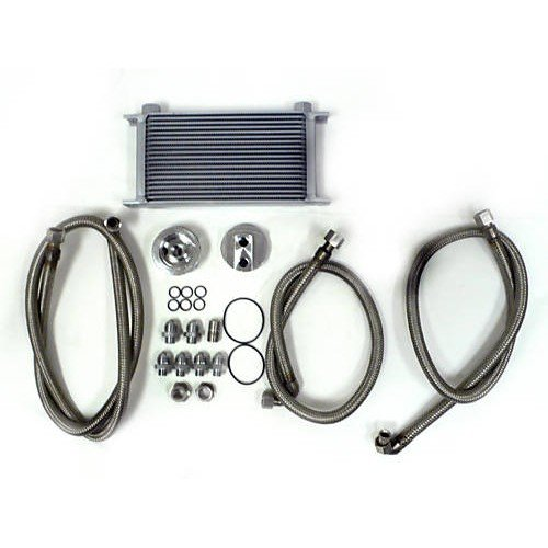 Universal High Performance Aluminum Oil Cooler Kit by emusa