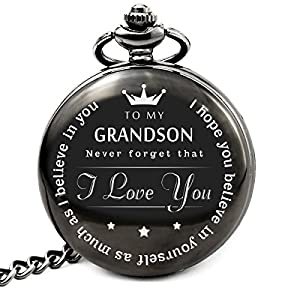 """""""To My Grand Son """" Pocket watch to grandson Gifts From a Grandpa GrandMa"""