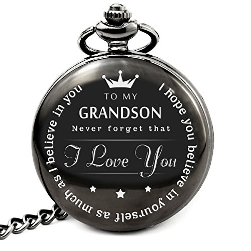 memory gift To My Grand Son Pocket watch to grandson Gifts From a Grandpa - GrandMa