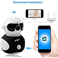 NPET Wireless IP Camera Home Security Surveillance HD Wifi Built-in Microphone with Night Vision for Pet Baby Video Monitoring