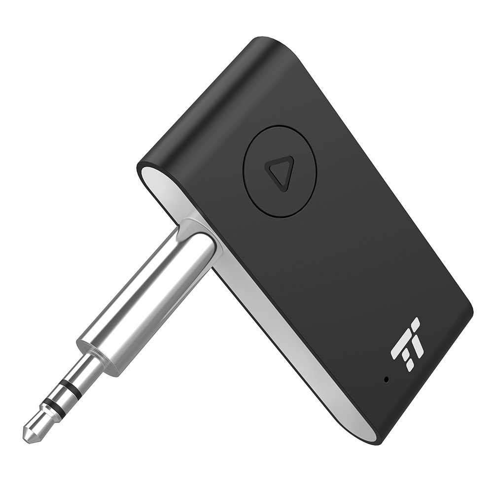 TaoTronics Bluetooth Aux Adapter, APTX Stereo Bluetooth Receiver, 15 Hour Hands-Free Car kit, Wireless Audio Bluetooth 4.2 Car Adapter, Auto on once Plugged to Power(cVc 6.0) by TaoTronics