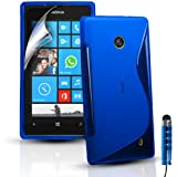 Phone Protection - S-Line Silicone Gel Case Cover For Nokia Lumia 630 / 635 (Black Only For 635) - Deep Blue