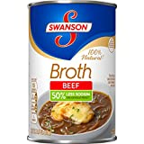 Swanson 50% Less Sodium Beef Broth, 14.5 oz. (Pack of 24)