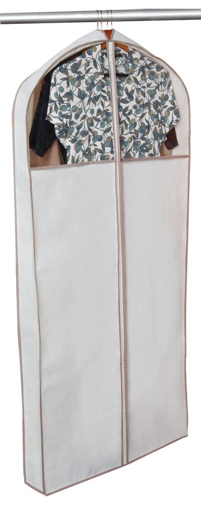 Pro-Mart DAZZ Gusseted Dress Garment Bag, Beige 5220377