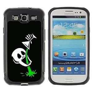 Tiktaktok Armor Defend Case Cover for Samsung Galaxy S3 - Funny Skull Skeleton Martini