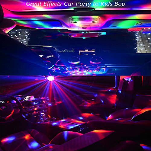 OENEW USB Mini Disco Light, 4 Packs Small Ball Stage Lamp with USB Port for Mobile Phone Car, Colorful RGB Bulb for Kids DJ Karaoke Club Bar Birthday Party Home