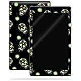 MightySkins Skin for Amazon Kindle Fire HD 10 (2017) - Nighttime Skulls | Protective, Durable, and Unique Vinyl Decal wrap Cover | Easy to Apply, Remove, and Change Styles | Made in The USA