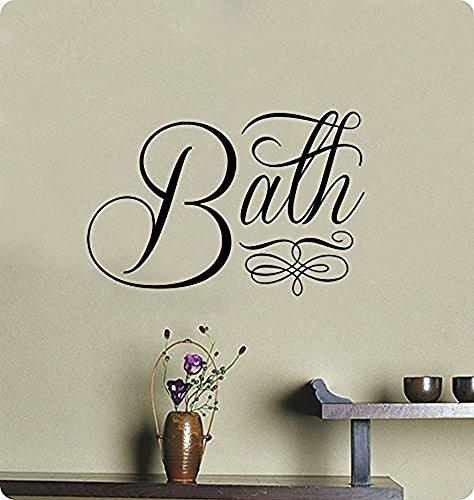 Crystal Emotion Luxury Wall Decal Sticker,Bath Art Mural Home Decor Quote Lettering Bathroom Sink Tub Shower