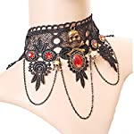 MEiySH Lolita Goth Punk Wedding Party Black Steam Punk Gear Choker Necklace 8