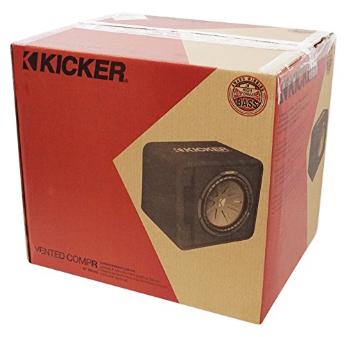 Kicker 43VCWR122 COMP12 12'' 1000W Car Subwoofer+Mono Amplifier+Vented Sub Box by Kicker (Image #6)