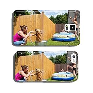 dog bath cell phone cover case Samsung S6