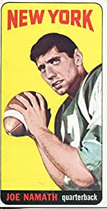 Joe Namath Unsigned 1965 Topps Rookie Card EX-MT