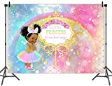 Mehofoto Royal Princess Baby Shower Backdrop Africa American Girl Photography Background 5x3ft Vinyl Pink Unicorn Rainbow Baby Shower Party Supplies Banner