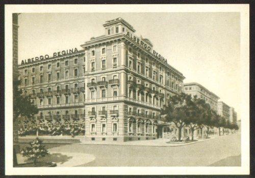 (Albergo Regina Hotel Rome Italy postcard 1930s )