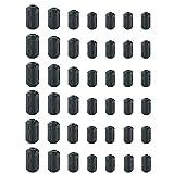 Limtery 42 Pack Clip-on EMI RFI Noise Filter Ferrite Core Ring for 3.5mm/ 5mm/ 7mm/ 9mm/ 13mm Diameter-Black