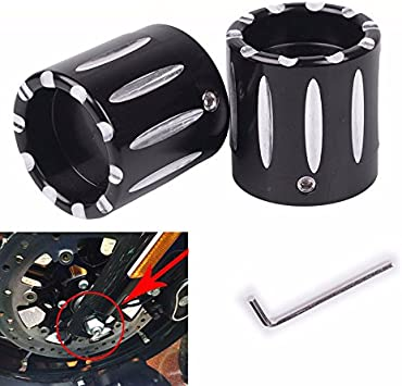 ESUBOSHI Axle Nut Cover Cap Black CNC Aluminum RC Front+Rear Cover Cap Nut Bolt Kit For Harley Sportster XL 883 1200