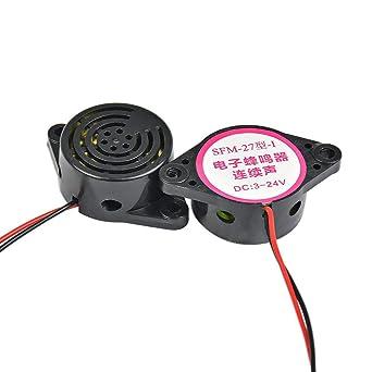 Amazon.com: Alarma electrónica de alto decibelio, 2 unidades ...