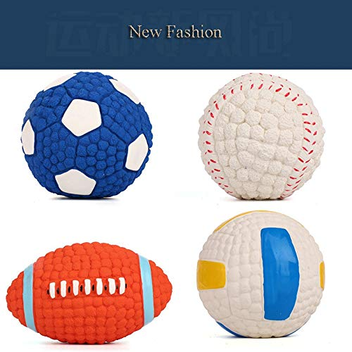 AHUAPET Puppy Dog Chew Toys Pet Supplies Interactive Dog Ball Toys for Large Dogs Pet Supplies Dog Toy Molar Latex Toy Ball E