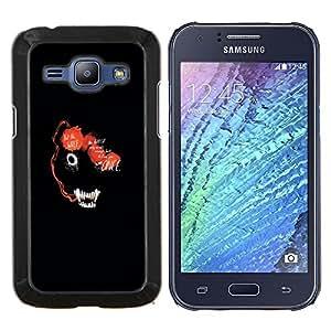 Qstar Arte & diseño plástico duro Fundas Cover Cubre Hard Case Cover para Samsung Galaxy J1 J100 (Resumen de la cara del lobo marino Animal)