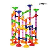 Seilent Marble Run Toy,Marble Runs STEM Educational Learning Toy, 105 PCS Construction Building Blocks Set for Over 3 Year Olds Kids As Gifts