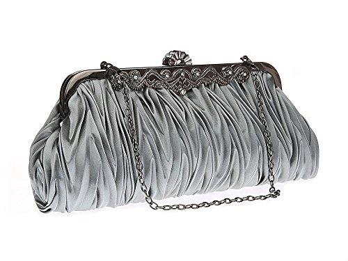 Bolso de embrague para mujer clutch gris