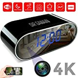 SIRGAWAIN Hidden Spy Camera Alarm Clock WiFi | 4K Video | Nanny Cam | Home Surveillance | Small Personal Security |...