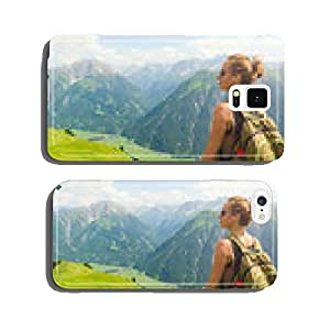 Woman hiking in the mountains cell phone cover case iPhone6