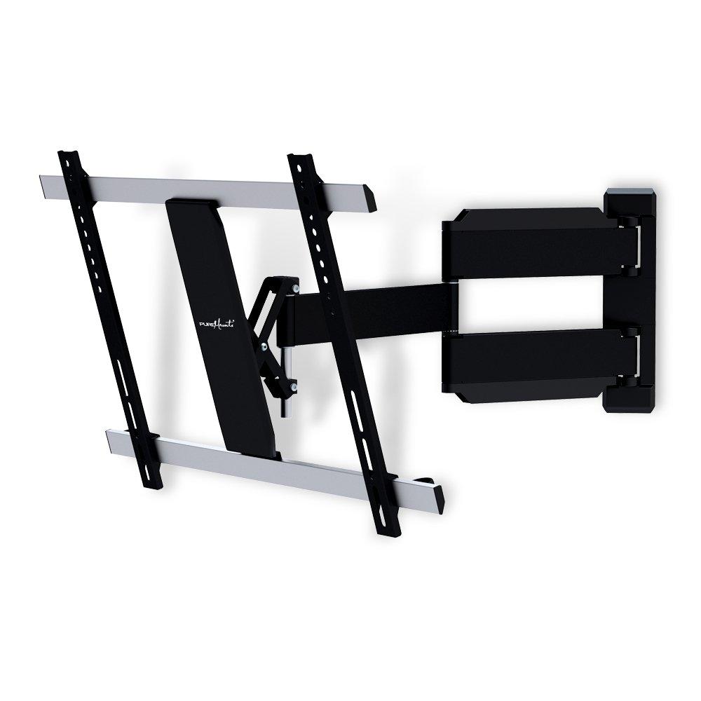 PureMounts TV Wandhalterung PM-Slimflex-65 – neigbar, schwenkbar, flach, ultraslim für Fernseher bis 165cm   65  Zoll   VESA600